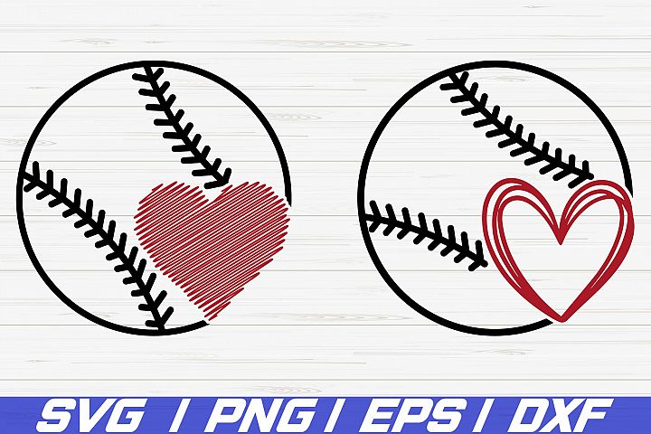 Baseball SVG / Heart SVG / Baseball Heart SVG / Cricut