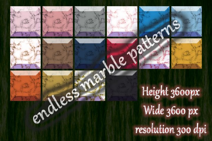 16 piece endless marble pattern 2019-2020 trend color