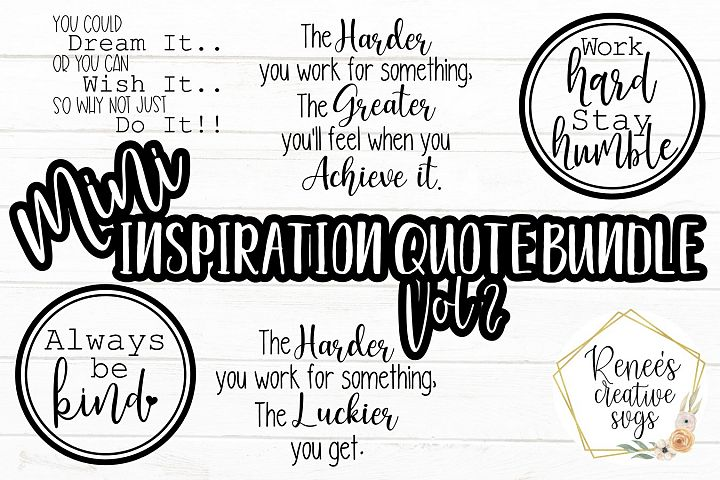 Mini Inspirational Bundle Vol 2 I Quote Bundle| SVG PNG JPEG