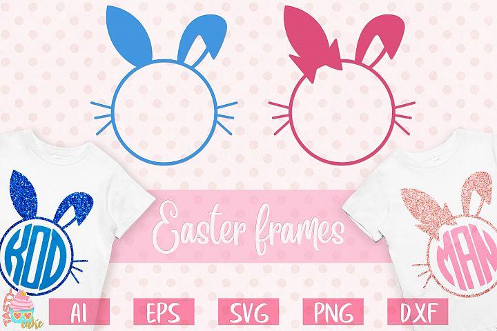 Easter Bunny Monogram Frames - Easter Designs