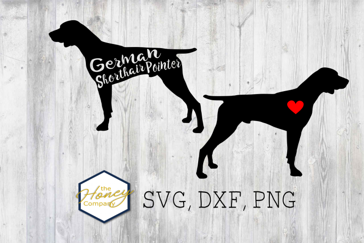 German Short hair Pointer SVG PNG DXF Dog Breed Lover Cut