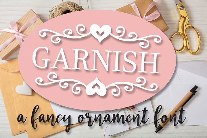 Garnish - A Fancy Flourish and Monogram Font
