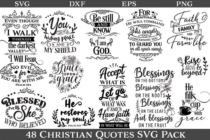 48 Christian Quotes SVG Pack - Limited Promotion