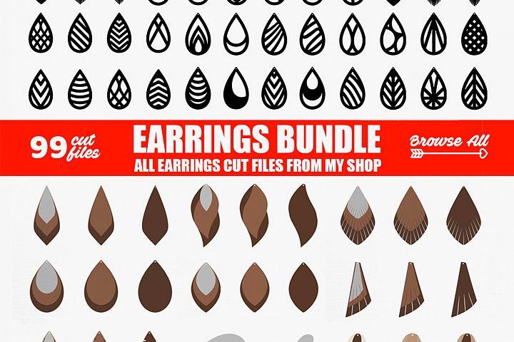Tear Drop SVG - Pendant SVG - Earrings Bundle