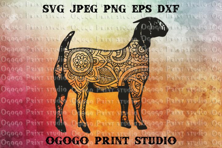 Boer Goat SVG, Zentangle SVG, Animal svg, Mandala svg