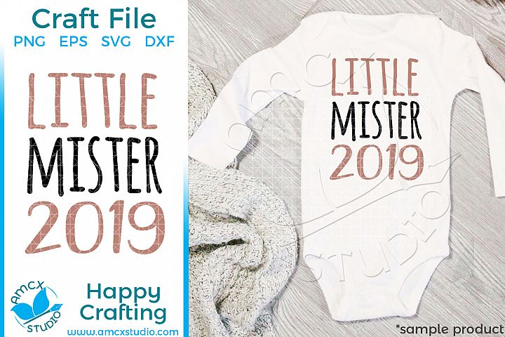 Little Mister 2019 New Years Eve Craft SVG