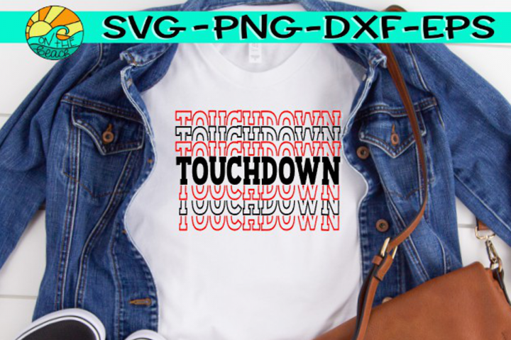 Touchdown - Words - SVG PNG EPX DXF