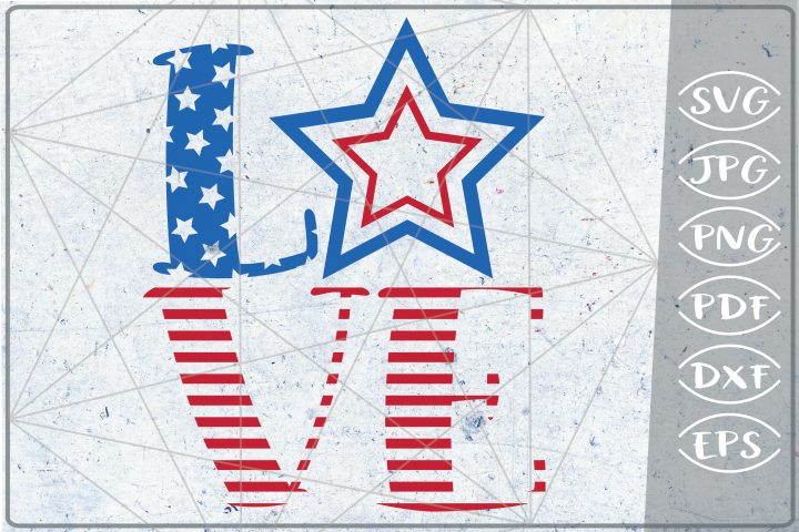 Love 4th of July Independence Day Crafters SVG Patriotic