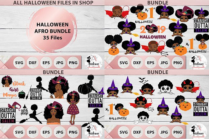 HALLOWEEN AFRO BUNDLE SVG Cut Files