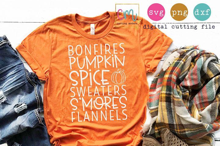 Bonfires Pumpkin Spice Sweaters Smores Flannels