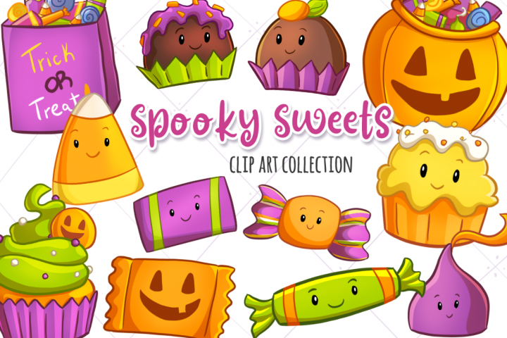 Spooky Sweets Clip Art Collection