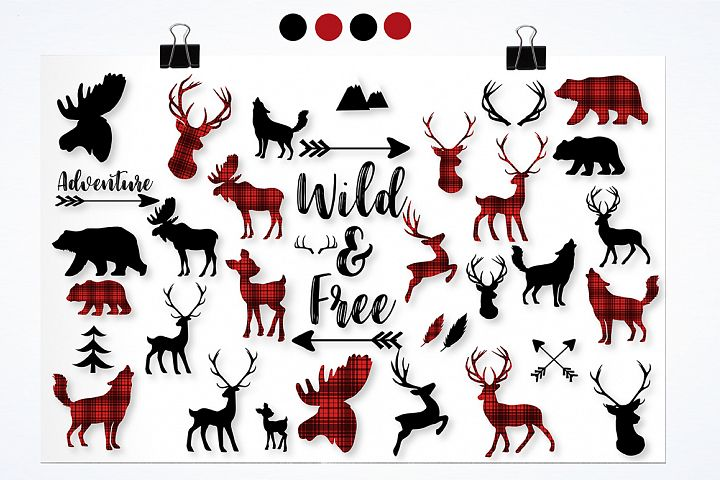 Woodland cabin graphics and illustrations - Free Design of The Week Design0