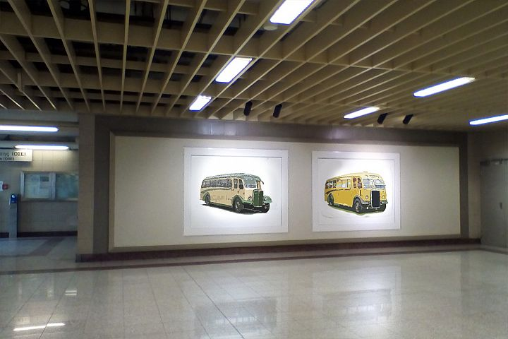 Old Bus Collection - Realistic Painting 18 PNG