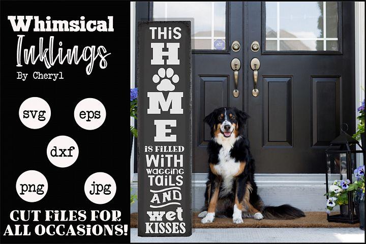 Dog Home-Vertical SVG - Free Design of The Week