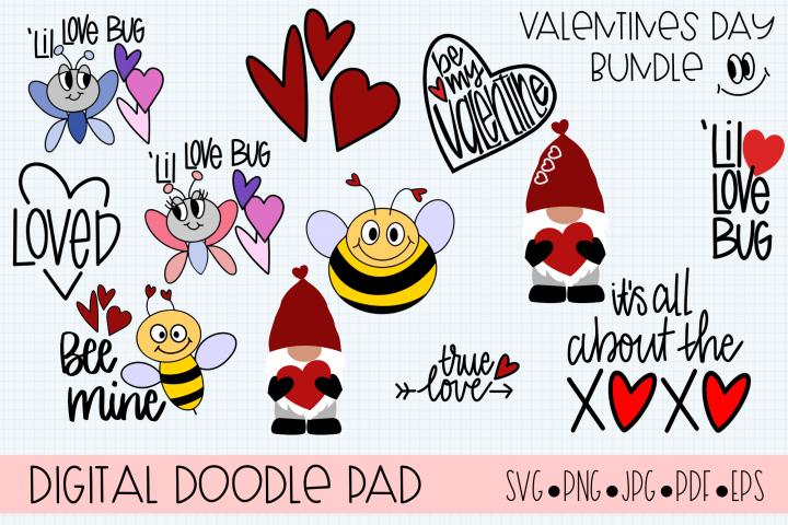 Valentines Day Bundle Gnome Hearts - Cricut & Silhouette Cut