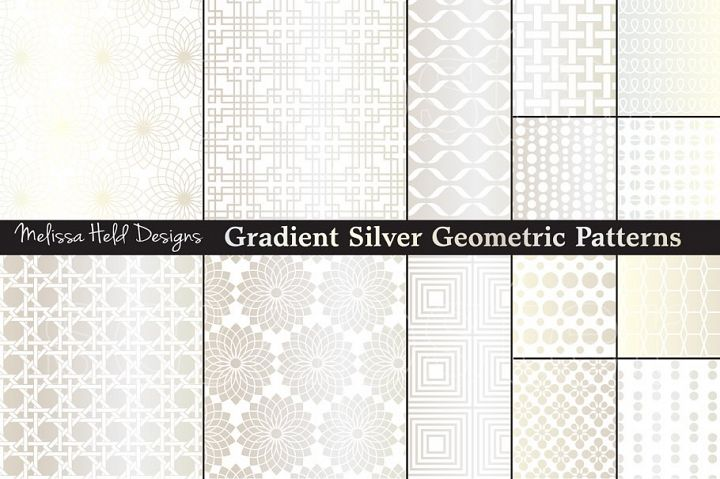 Silver Geometric Patterns