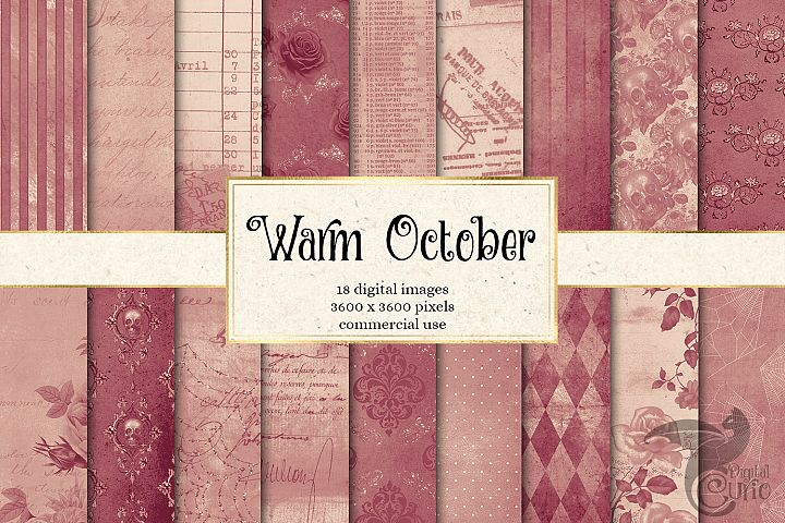 Warm October Textures - Vintage Digital Paper