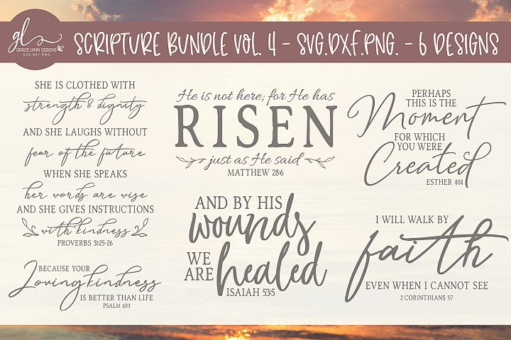 Scripture Bundle Vol. 4 - SVG Cut Files - 6 Designs