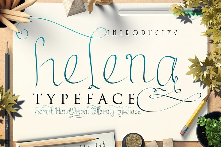 helena script handdrawn typeface