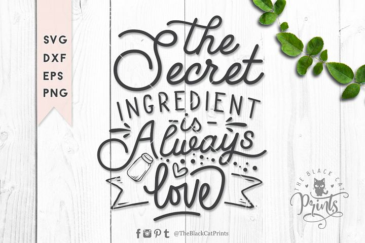 The secret ingredient SVG DXF EPS PNG - 2