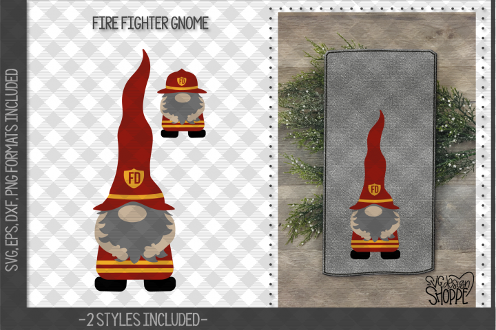 Gnome, Gnomes, Fire Fighter, Nurse, Police Officer, SVG,