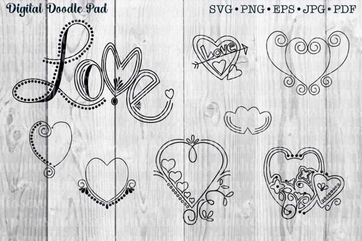 Doodle Heart Set