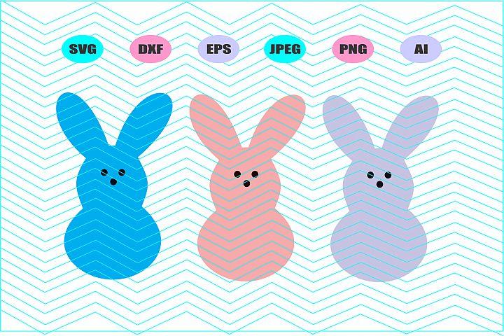 Easter Svg Bunny Vector File Cricut Design Vinyl Decal