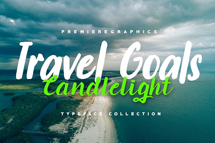 Travel Goals & Candlelight - Font Collection