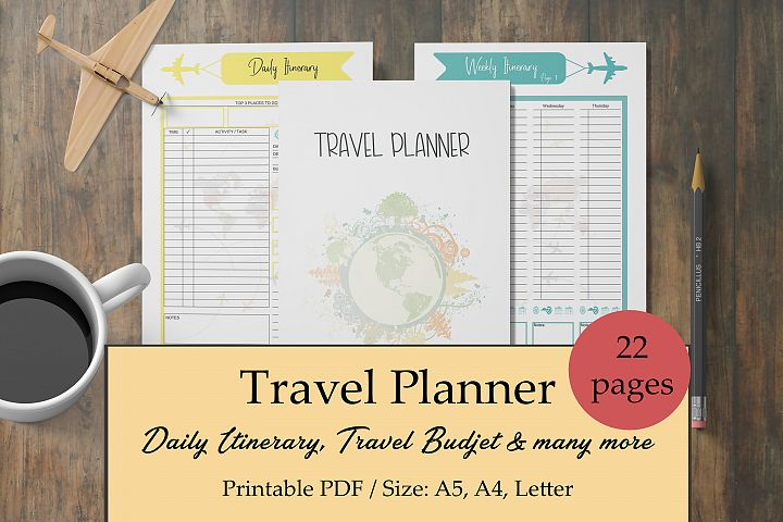 Travel Planner, Vacation Planner, Holiday Planner Printable