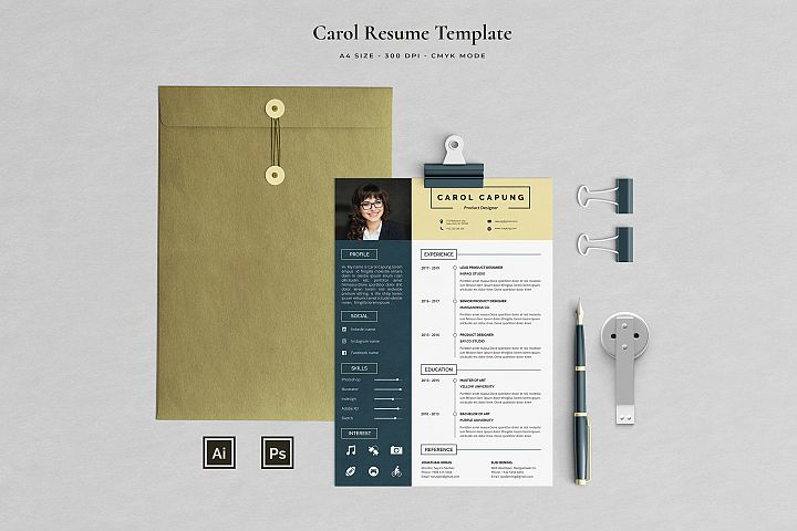 Resume Template 3 Pages | Capung
