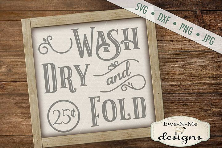 Wash Dry and Fold SVG DXF Cut File