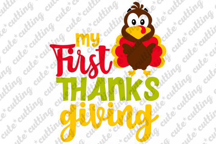 My first Thanksgiving, baby turkey, svg, png, dxf, pdf, jpeg