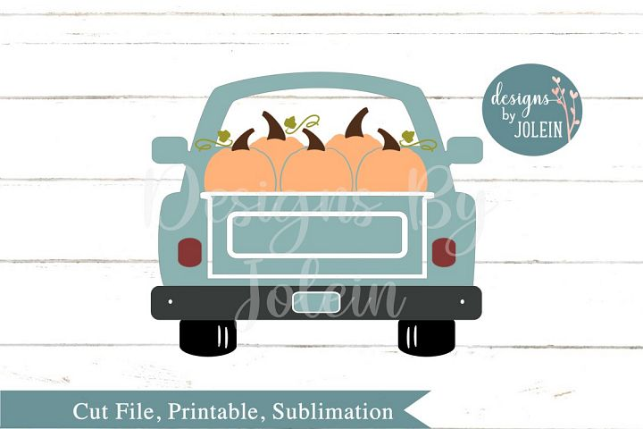 Fall Truck SVG, png, eps, sublimation, DXF
