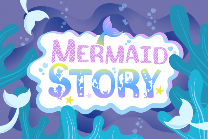 Mermaid Story & Mermaid Scales Font Duo | Mermaid Font - Free Font of The Week Font