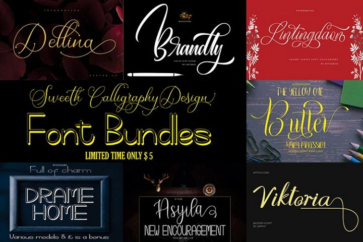 Sweeth Calligraphy Design - Font Bundles