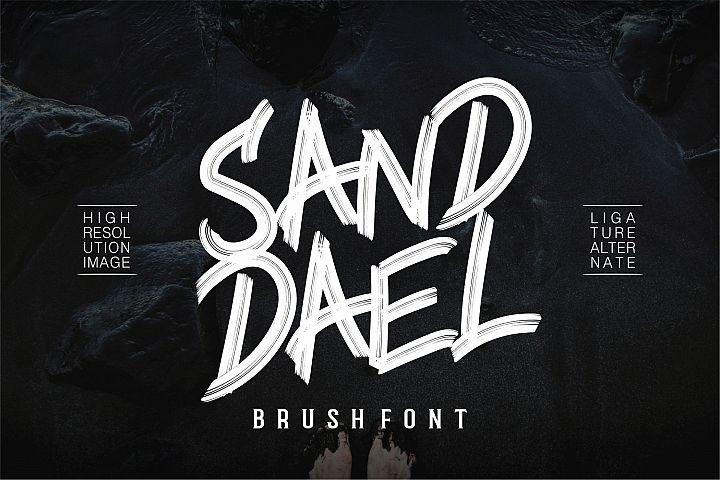 Sand Dael - Brush Font