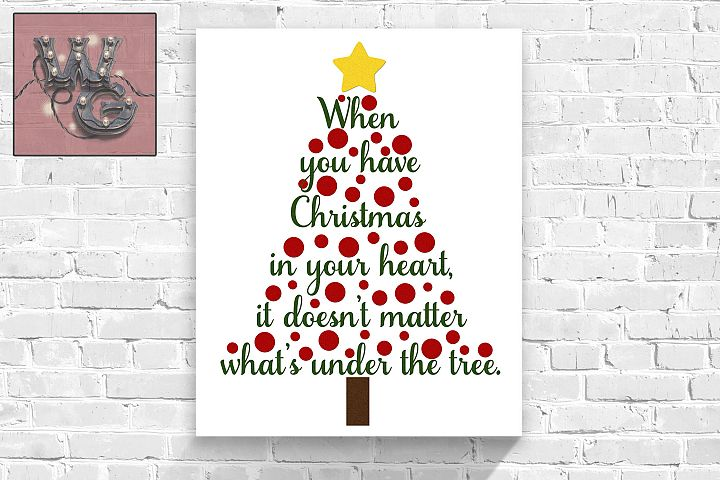 Christmas In the Heart SVG DXF PNG JPG Commercial