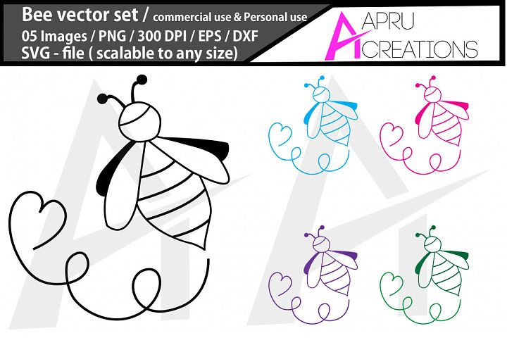 Bee SVG cut file /Bee silhouette / commercial use