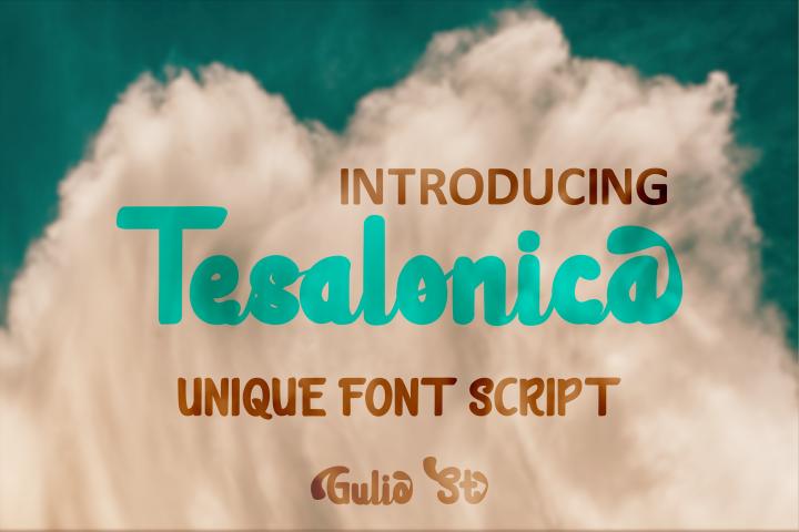 Tesalonica Unique Font Script