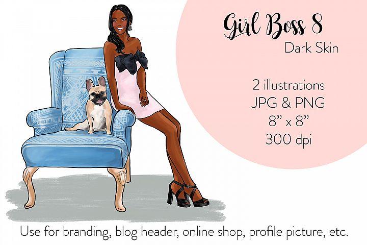 Fashion illustration - Girl boss 8 - Dark Skin