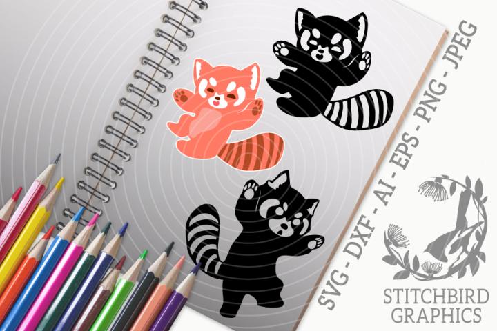 Red Panda 1 Bundle SVG, Silhouette Studio, Cricut, Eps, JPEG