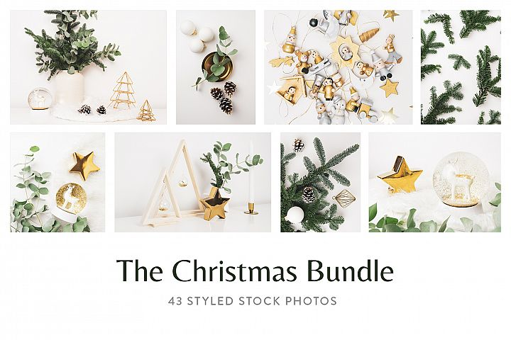 Christmas Styled Stock Photo Bundle - Gold & Minimal
