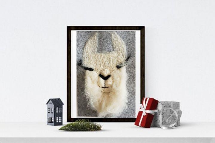 Cutest Llama Print Wall Art of my original llama felt paint