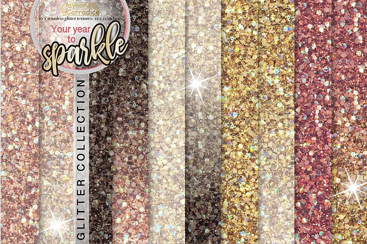Your year to sparkle - NYE Glitter backgrounds