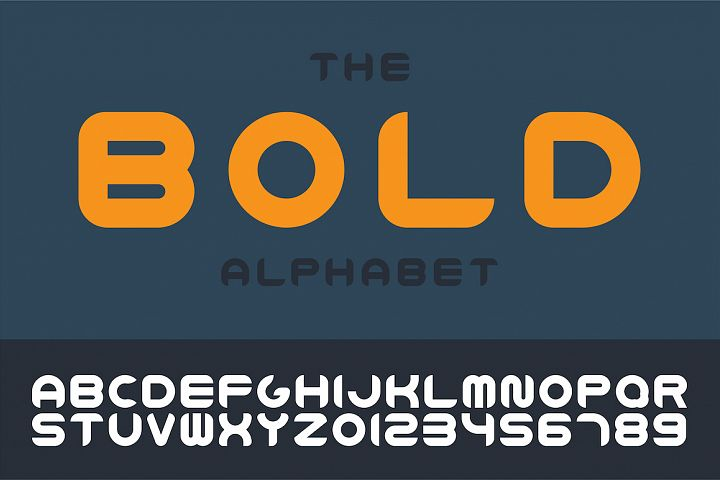 Bold english vector trendy alphabet