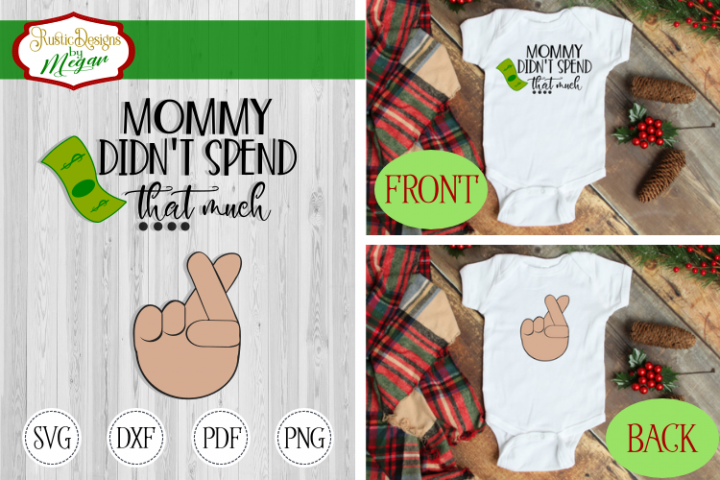Funny Christmas Shopping SVG - cut file