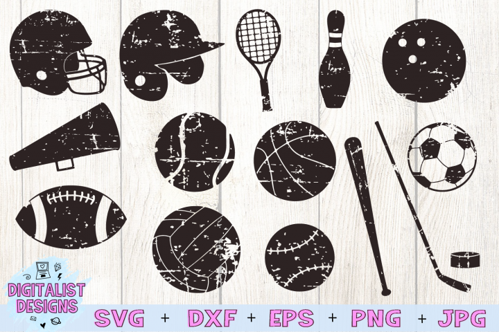 Grunge Sports SVG Bundle, Baseball SVG, Softball SVG