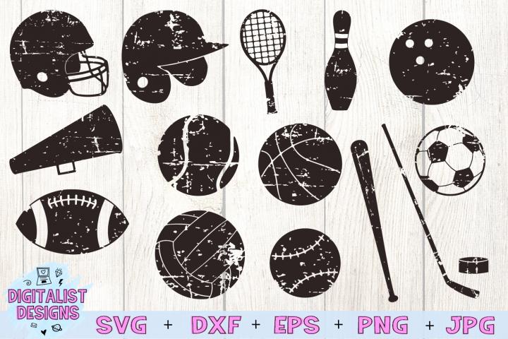 Grunge Sports SVG Bundle, Baseball SVG, Softball SVG