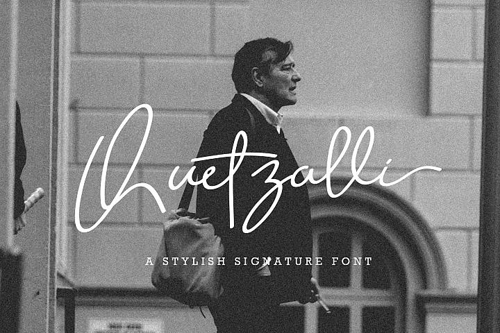 Quetzalli signature font