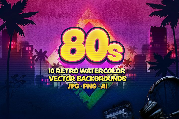 80s Retro Watercolor backgrounds.